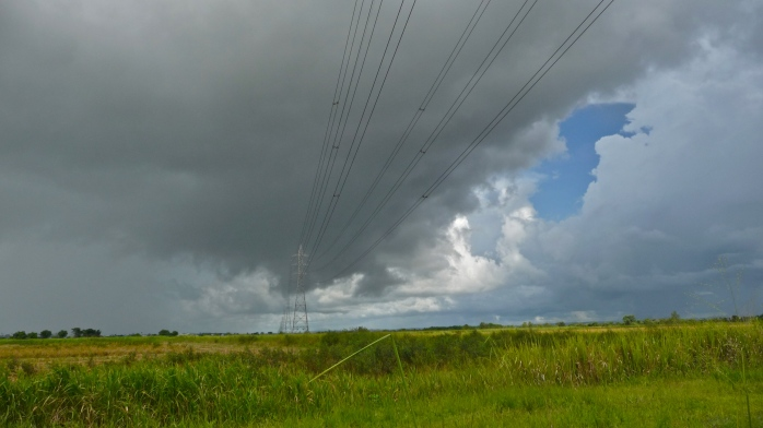 Inner and outer clouds and electricity