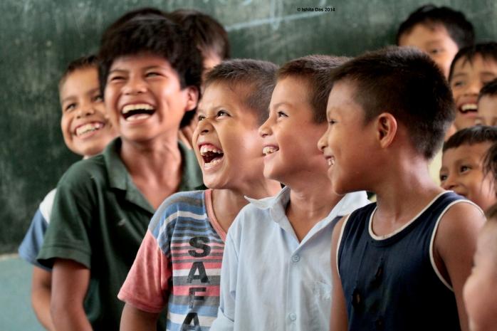 Amazonian children at school