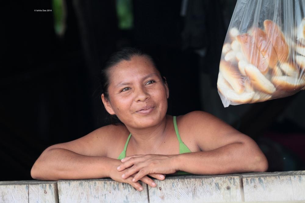 Shopkeeper Amazon village