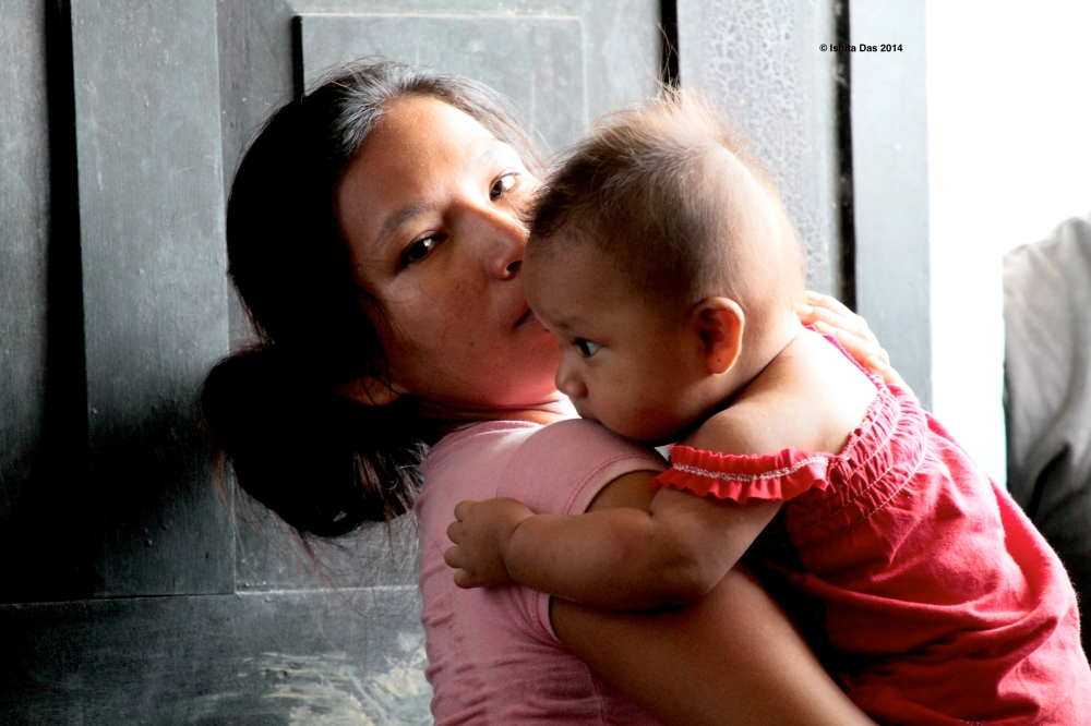 woman with a baby- amazon portrait 2