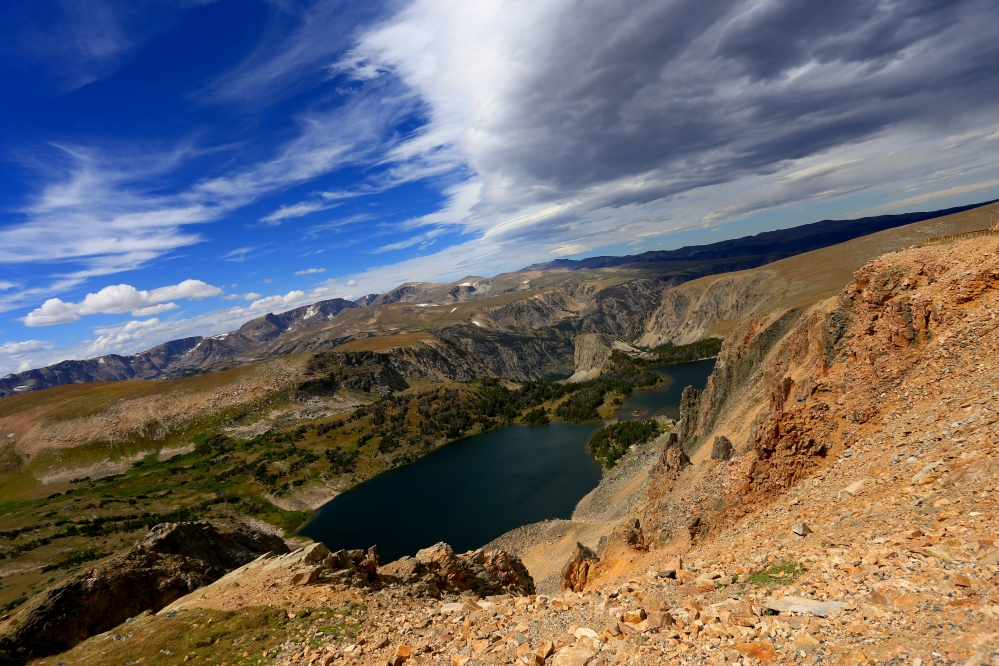 Beartooth highway-glacier ponds-wm